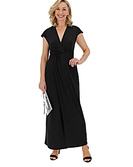 Black Twist Knot Maxi Dress