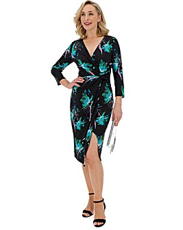 Floral Print Twist Knot Midi Dress