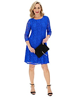 Cobalt Lace Swing Dress