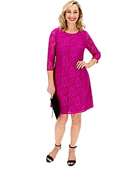 Pink Lace Swing Dress