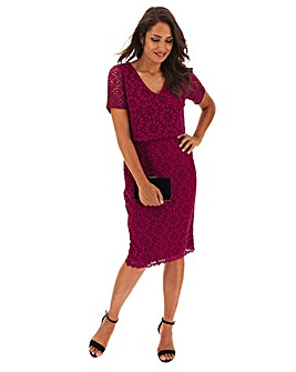 Berry Double Layer Lace Dress
