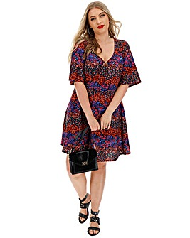 Ditsy Floral O Ring Tea Dress