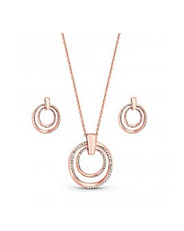 Rose Gold Plated Twist Open Set