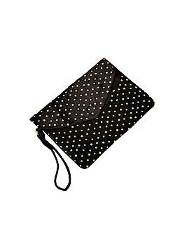 Monsoon Velvet Embellished Clutch Bag