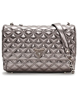 Guess Cessily Quilted Convertible Cross-Body Bag