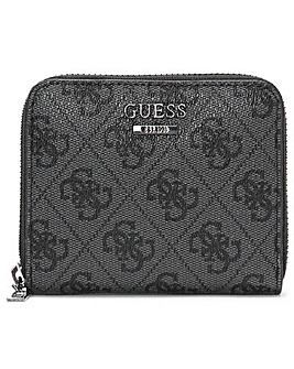 Guess Small Noelle Repeat Logo Zip Around Wallet