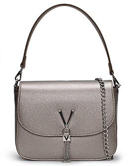 Valentino Bags Divina Large Pebbled Shoulder Bag