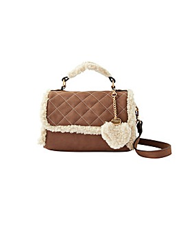 Accessorize Shearling Top Handle Bag