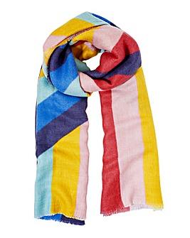 Accessorize Rainbow Stripe Blanket Scarf