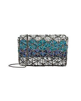 Accessorize Sequin Diamond Clutch Bag