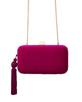 Accessorize Velvet Hardcase Clutch Bag