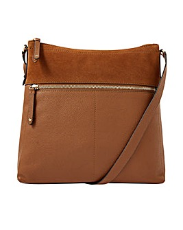 Accessorize Large Leather Cross-Body Bag