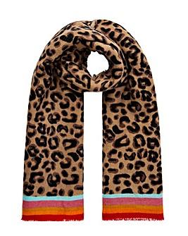 Accessorize Leopard Border Print Scarf