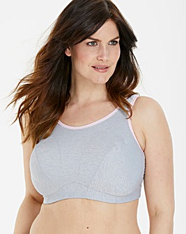 Goddess Non Wired Grey Sports Bra