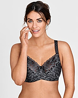 Miss Mary Flames Lace Grey Wired Bra