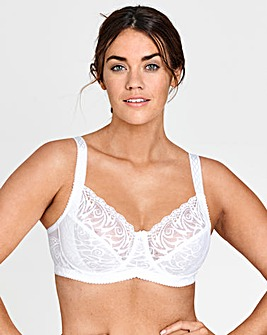 Miss Mary Flames Lace White Wired Bra