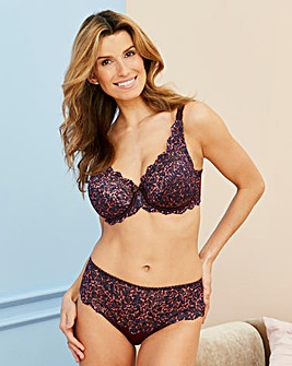 Playtex Flower Lace Plum Print Bra