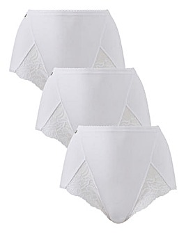 Playtex Cotton & Lace 3Pack Maxi Briefs