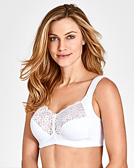 Miss Mary Non Wired Lace White Bra