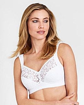 Miss Mary Cotton Lace NonWired White Bra
