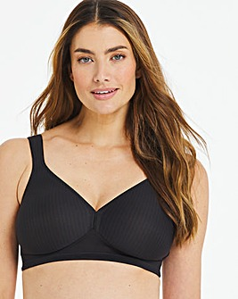 Triumph Modern Soft Cotton Non Wired Black Bra