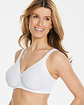 Triumph Modern Soft Cotton Non Wired White Bra