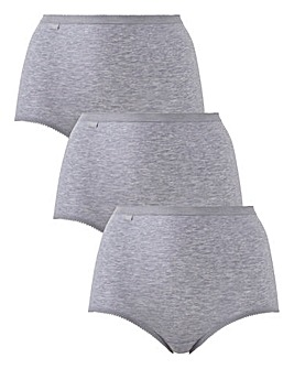 Sloggi 3Pack Maxi Briefs, Grey Mix