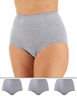 Sloggi 3Pack Basic Maxi Briefs, Grey Mix