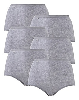Sloggi 6Pack Maxi Briefs, Grey Mix