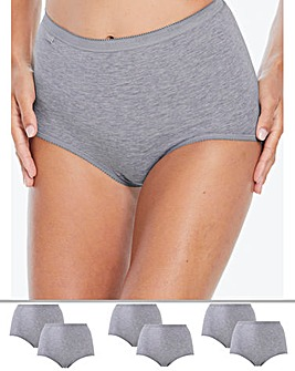 Sloggi 6Pack Basic Maxi Briefs, Grey Mix