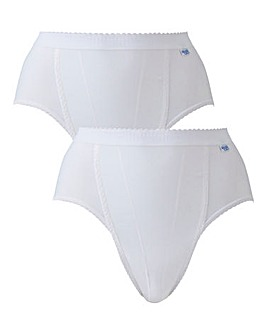 Sloggi 2Pack White Tai Control Briefs