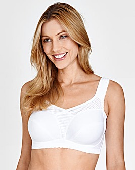 Miss Mary Cotton Fresh Non Wired White Bra