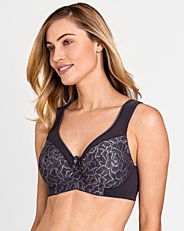 Miss Mary Queen Wired Grey Lace Bra
