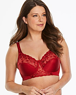 Miss Mary Rose Embroidered Red Bra
