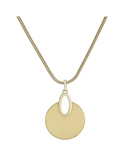 Mood Brushed Metal Disc Necklace