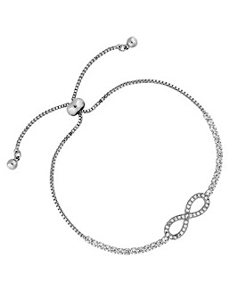 Crystal Infinity Toggle Bracelet