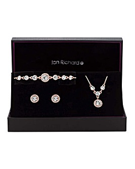 Jon Richard Halo Trio Jewellery Set