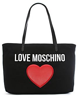 Love Moschino Canvas Logo Heart Shopper