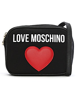 Love Moschino Canvas Logo Heart Bag