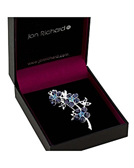 Jon Richard Blue Flower Trio Brooch