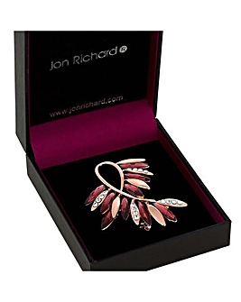 Jon Richard Leaf Infinity Brooch