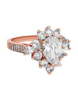 Jon Richard Rose Crystal Cluster Ring
