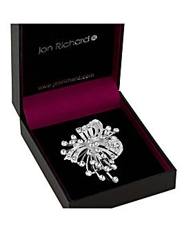 Jon Richard Crystal Sprig Brooch