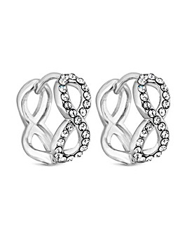 Jon Richard Infinity Mini Hoop Earring