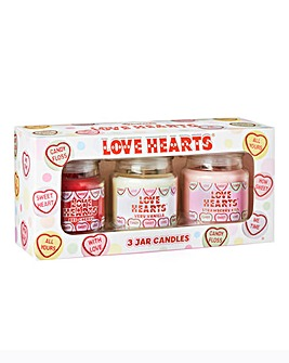 Swizzles Love Hearts Candle Gift Set