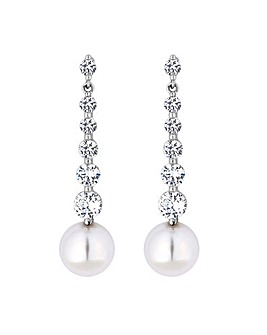 Jon Richard Tennis Pearl Drop Earring