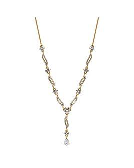 Alan Hannah Flower Clust Y-Drop Necklace