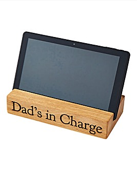 Personalised Oak Tablet Stand