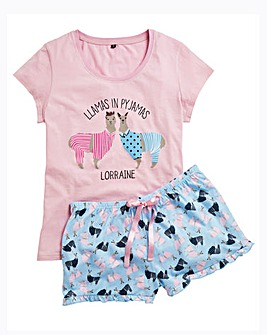 Personalised Llamas in Pyjamas PJ Set