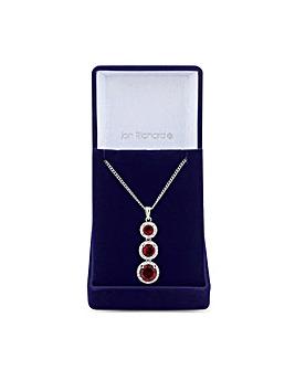Jon Richard Ruby Red Drop Necklace